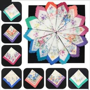Piazza Pocket bordi in cotone Hankerchief signore fazzoletti stampati Crescent stampa variopinta delle donne del partito di nozze Fazzoletti regalo ZYQ607