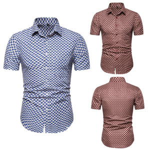 Blumenmuster Herren Designer-Hemden arbeiten dünne Breath Kurzarmhemden Mens-Sommer-Strand-Ferien-Tops