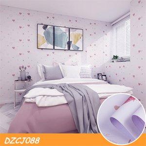 0.6 * 1m stile cinese Self-Adhesive Wallpaper caldo rosa romantico PVC Ragazze camera da letto Wall Stickers