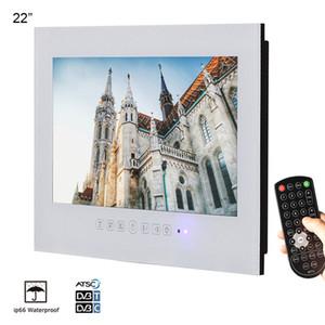 22inch 흰색 무테 방수 욕실 호텔 홈 LED 텔레비젼 평면 스크린 lcd TV 벽 마운트