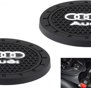 아우디 컵 홀더 삽입 코스터를위한 자동차 인테리어 액세서리 - A3 A4 S4 A5 S5 RS5 A6 S6 A7 S7 RS7 A8 Q3의 Q5의 Q7를위한 실리콘 안티 슬립 컵 매트
