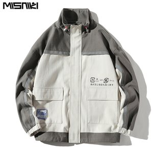 Misniki 2019 Erkekler Ceket Ve Mont Moda Rahat Tek göğüslü Hip Hop Ceket Streetwear Palto JP43