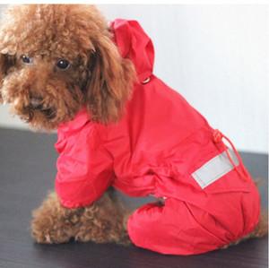 Brasão Dog Cat Pet capa com capuz Reflective filhote de cachorro pequeno cão Chuva Jacket impermeável para cães macio malha respirável roupas para cachorros