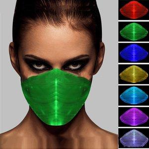 Nuovo Bar discoteca colorati luminosi maschera LED luminoso maschera in fibra ottica notte Maschere maschera light designer 5976