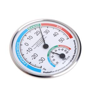 Гигрометр Влажные гигрометр термометр гигрометр часы-формы Измеритель температуры и влажности Датчик Мини Круглый Настенный измерительный инструмент 4.8