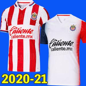 20 21 liga mx chivas Guadalajara pembe yeşil futbol forması 2020 2021 ev BRIZUELA chivas futbol gömlek PULIDO LOPEZ Camisa PIZARRO maillot