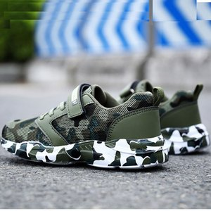 Boys' shoes 2020 spring and autumn mesh cloth boys sports breathable shoes school designated students summer camp camouflage