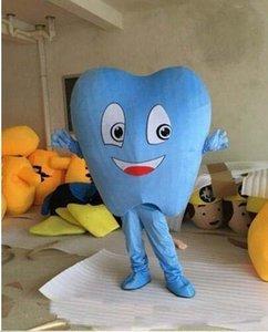 chaud 2019 usine adulte mascotte Blue Tooth Costume de déguisement Hot Sale Party Free Ship
