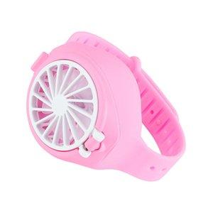 USB Rechargeable Fan Portable Mini Fan Watch-Shaped Fan for Indoors Outdoors