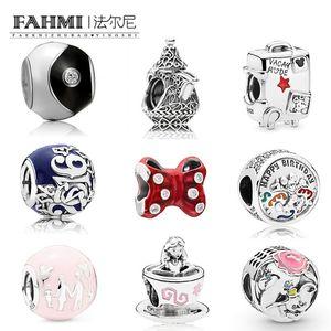 Fahmi 100% 925 sterlina compleanno Castello amily Fun Balloon fascino Bow Teacup Tai Chi Valigia in rilievo Limited Edition