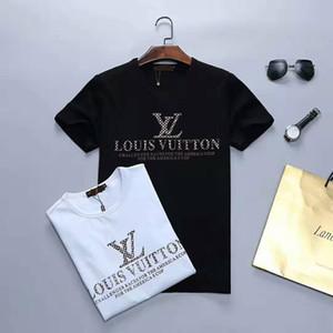2020 Nouveau luxe designers T-shirt d'été T-shirt Mode Hommes Designer T-shirt Hip Hop Hommes Femmes Noir à manches courtes T-shirts Taille