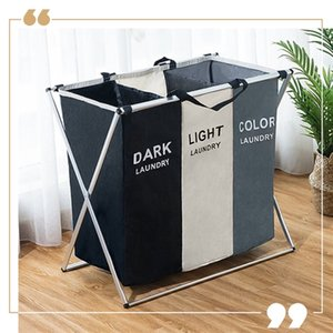 X-Shape Dirty Laundry Basket Clothes Organizer Printed Collapsible Foldable Home Laundry Hamper Sorter Laundry Basket