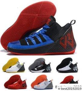 Мужчины Jumpman Баскетбольные Кроссовки Кроссовки 2019 Russell Westbrook Why Not Zer0. 1 Chaos Blue Zer Man Тренеры Zapatillas Дизайнеры Спортивной Обуви