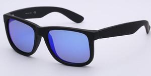 2019 جودة عالية الإطار الكامل أسود إطار العدسات الزرقاء النظارات الشمسية الأزياء للرجال والنساء يستقطب عدسات UV400 مع صناديق حزم الملحقات