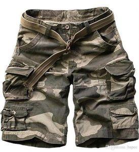 Pantaloni Mens Cargo Shorts Casual Moda Uomo short con tasche maschile Abbigliamento allentato solido di colore