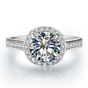 CHARLES COLVARD كلاسيكي 0.5Ct 5MM G-H اختبار المويسانتي الدائري 925 فضة الطوق الذهب الأبيض اللون مجوهرات الزفاف