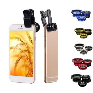 Accessories Mobile Phone Lens 3 in 1 Mobile Phone Lenses Fish Eye Wide Angle Macro Camera Lens Set Universal Clip