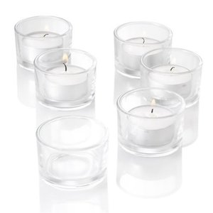 NEW!Bulk Set of 24PC Glass Candle Holder In Clear Frosted Color(not included candle),USD23.76 LOTS T200703