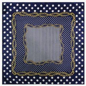 Mai Tong eşarplar 60cm * 60cm yeni küçük bayan Polka Dot zincir ipek eşarplar küçük kare eşarplar