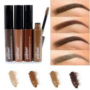 Popfeel Eye Brow Gel Coffee Black Brown Paint Eyebrows Cream Gel With Brushes Waterproof Longlasting Eyebrow Tint Mascaras
