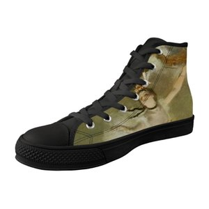 New Shoes alta top preto Lona Vulcanizada Calçados por Homem respirável Lace-up das sapatilhas da bailarina Pintura impressão Edgar Degas
