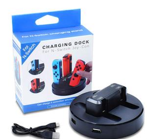 Ladegerät für Nintendo Schalter Freude-con Vierladeschalter Griff vier-Ladung mit zwei USB-Ports mit Indikatoren
