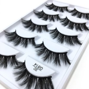3D Stereotypes False Eyelashes Five-Pack Natural Thick False Eyelashes G814 Hand-Made False Eyelashes Artificial Wholesale