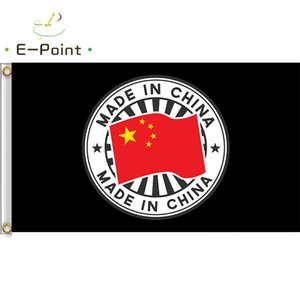 Yapımı In China Bayrağı 3 * 5 ft Sign (90cm * 150cm) Home için polyester bayrak Banner Süslemeleri