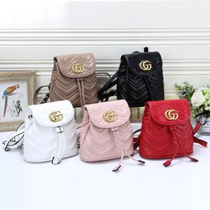 Новая мода Марка Женщины Кожа Рюкзаки студент сумка плеча Дизайнер Сумки женские кулиской Ранец Девушки Schoolbag ранец