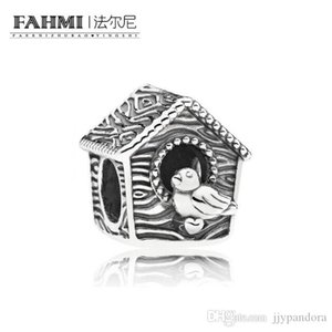YHAMNI 100% 925 Sterling Silver 1:1 Authentic Classic SPRING BIRD HOUSE 797045 Exquisite Charm Women's Wedding Beads Jewelry