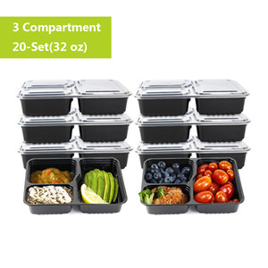 20pcs de Cozinha / set Lunch Box Disposable Food Fruit Container de armazenamento ao ar livre Bento Picnic Disposable Food Containers