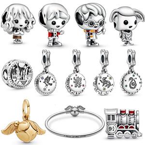 Yeni 925 Gümüş Sihirli Okul Harry, Ron Weasley Charm Fit Pandora Boncuk Bilezik kolye Orijinal Kadın Takı Yapımı
