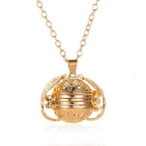 Magic Photo Pendant Colar Memória Flutuante Locket Necklace Anjo Asas Flash Album Box colares para Declaração Mulheres Jóias presente