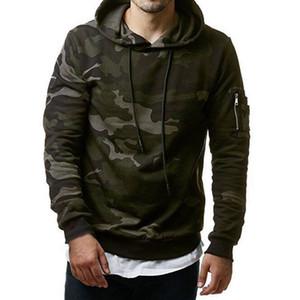 HEFLASHOR 2019 Camuflagem Hoodies Homens Camisola Hip Hop Masculino Moletom Com Capuz Marca Camo Pullover Sportswear Ao Ar Livre