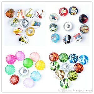 Musical Instrument Camo Super man Design Metal Charm 18mm Glass snap button Jewelry Faceted glass Snap Fit snap Bracelet snaps jewelry