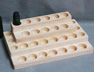 espositore in legno per profumo olio essenziale e bottiglia di vetro liquido 5ml 10ml 15ml Rack di cosmetici per legno naturale 4-Tier