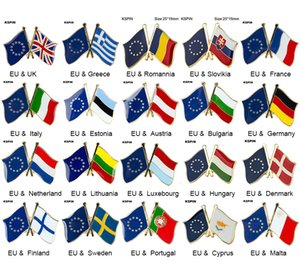 Freundschafts-Anstecknadeln der Europäischen Union Flaggen-Anstecknadeln Country Flag Badge Flag Badge Brooch