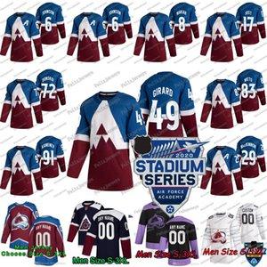 49 Samuel Girard 2020 Série Stade Colorado Avalanche Pierre-Edouard Bellemare Ryan Graves Pavel Francouz Philipp Grubauer T. J. Tynan