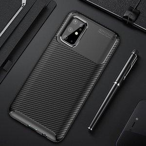 Para la cubierta del carbón Fibra S20 Samsung Galaxy S 20 Ultra de lujo del caso de golpes de teléfono del caso para Samsung S20 + S 20 Plus 5G cubierta de Shell