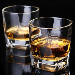 Grado Alimenticio sin plomo vino blanco 170 ml de whisky Copa de cristal liso Boca Copa borde liso de la superficie espesa la barra inferior taza de la taza DH0537