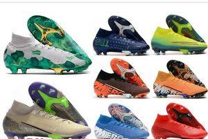 2020 Mercurial Superfly VII 7 360 Elite FG SE MDS 001 002 cr7 Ronaldo Neymar NJR para hombre botas de fútbol de los muchachos zapatos de fútbol de Estados Unidos Tacos 6.5-11