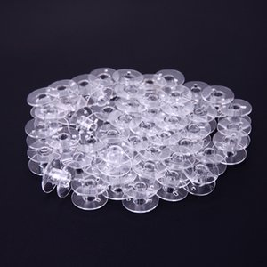 DIY Apparel & Fabric Tools & Accessory 50Pcs Clear Empty Bobbins Plastic Spools for Sewing Machine Sewing Threads Empty Bobbins