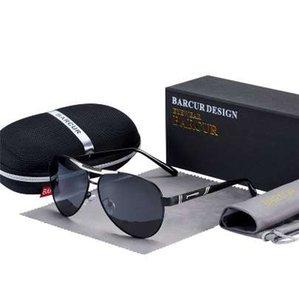 BARCUR 2019 NOUVELLES lunettes de soleil pour hommes polarisées UV400 Protection Voyage Conduite Homme Lunettes Oculos Homme Accessoires Pour Hommes