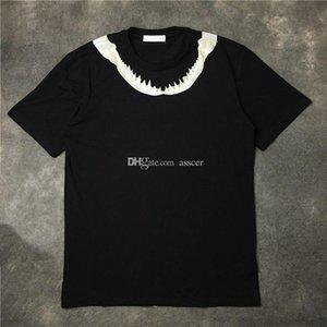 Luxury Mens Designer T Shirt Men Women High Quality Cotton T Shirt New Fashion Mens Shark Tooth Print T Shirt