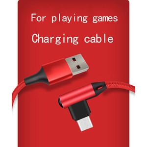100CM 150CM الكوع نوع-C مايكرو كابلات USB سريع كابل شحن 90 درجة الكابل لسامسونج هواوي السريع لallMobile الهاتف سريع شاحن