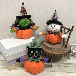 Halloween-Dekoration für Haus 12 * 20cm Kürbis-Geist-Puppe Dekoration Requisiten Festival Bar Tanz Mall Hotels Geschenke Szene Layout-Partyangebot