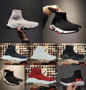 Calcetines de lujo de alta calidad zapatos Speed Trainer Sneakers Speed Trainer Sock Race Runners hombres negros y mujeres diseñador casual zapatos 36-47
