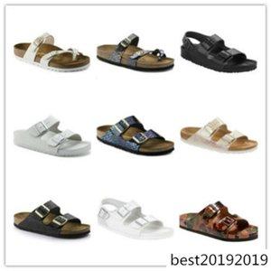 Los nuevos 2019 hombres y mujeres del verano de Arizona Mayarí Gizeh planos de las sandalias deslizadores inferiores suaves unisex zapatos casuales impresión de coincidencia de colores 01