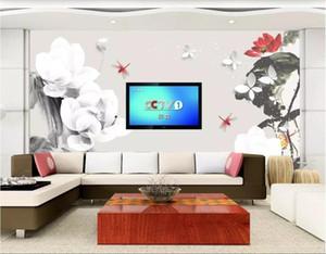 Carta da parati 3d foto personalizzata non tessuto murale Lotus nuovo sfondo cinese muro 3d paesaggio muro arazzo 3d wallpaper per pareti 3 d