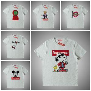 Supreme Hop Moda Donna T della camicia degli uomini di sicurezza progettisti logo T shirt maniche corte Hip marca famosa Tees il formato S-XXL # 46515